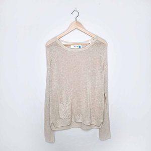 Sparrow linen-blend oversized pocket sweater